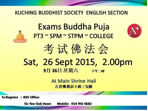 2015 Exams Buddha Puja